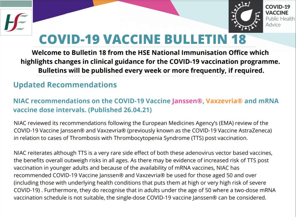 COVID-19 VACCINE BULLETIN 19