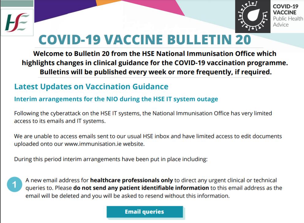 COVID-19 VACCINE BULLETIN 21